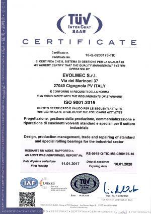 EVOLMEC - ISO 9001 (2020) - br