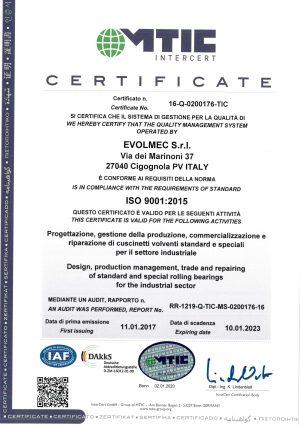 EVOLMEC - ISO 9001 (2023) - 16-Q-0200176-TIC